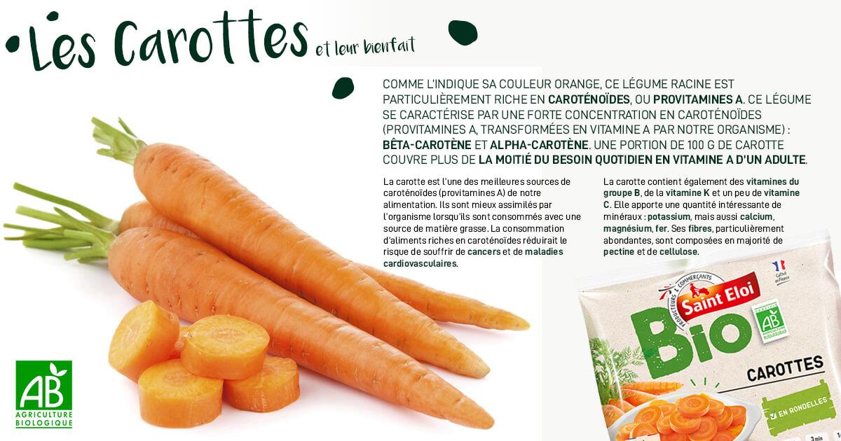Les carottes et leur bienfait
